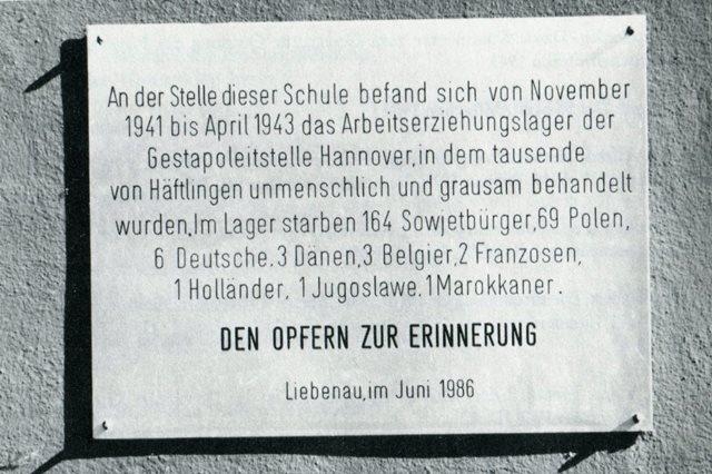 Gedenktafel Liebenau
